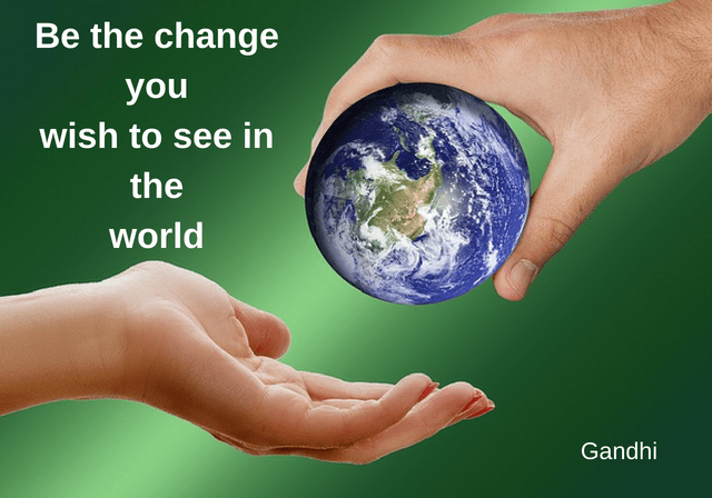 Wereld change Gandhi